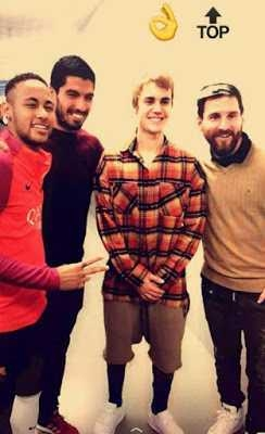 Justin Bieber practices football with Barcelona trinity Lionel Messi, Neymar and Luis Suarez (Photos/Video)